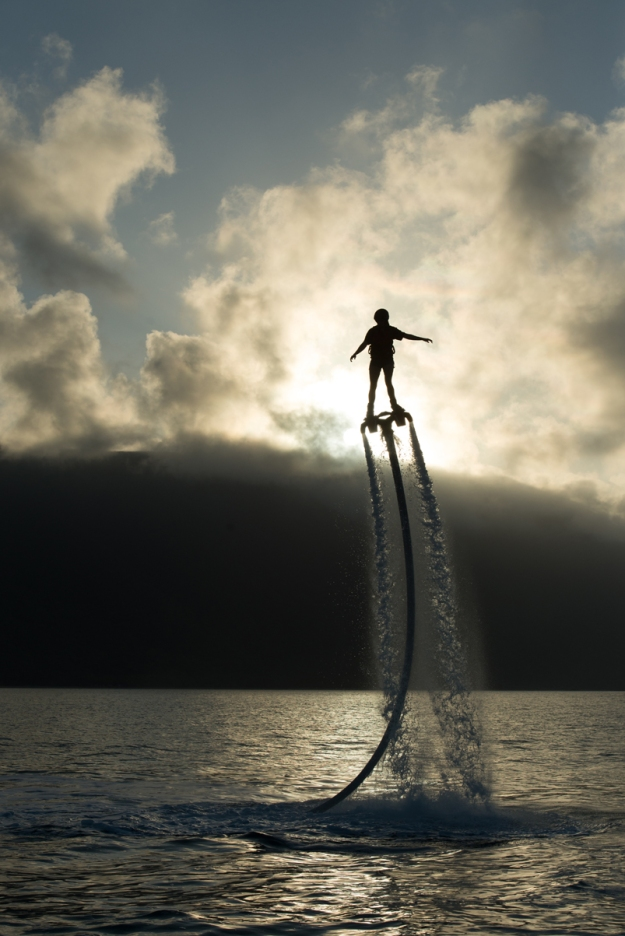 Rise above it all with Flyboard Cairns - Ironman meets King Neptune. Picture courtesy of Flyboard Cairns